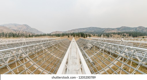 CHIME radio telescope array, Dominion Radio Astrophysical Observatory in British Columbia, Canada