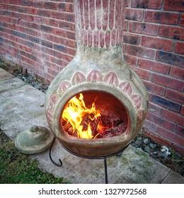 Chimnea on fire
