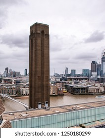 Chimney of the Bankside Power Station. The Tate Modern (London, UK)