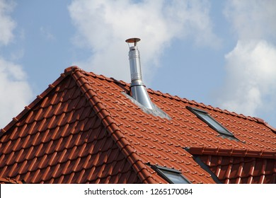 a chimney on the roof