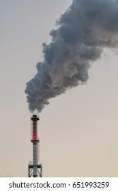 Chimney polutuion air. Industry. Factor.