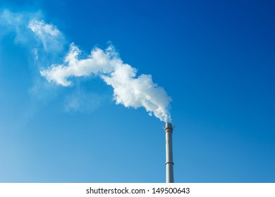 chimney is smoking