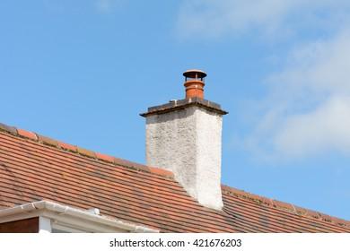 Chimney stack on Victorian style property