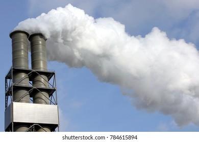 Chimney Stacks of a modern hard coal power plant