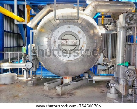Chimney Steam Boiler Power Plant High Stock Photo (Edit Now ...