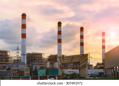 chimney in thermal electric generator industry plant