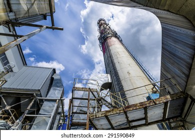 chimney of thermal power plant.