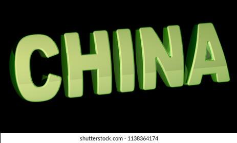 China. 3D Illustration.