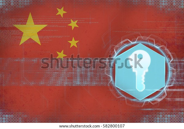 China access key. Network security concept.