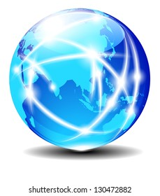 China and Asia, Global Communication Planet Data across the world