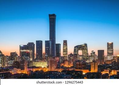 China Beijing financial center,international trade business circle