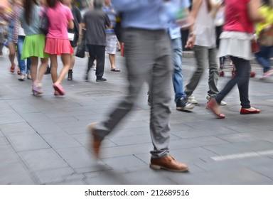 China busy street