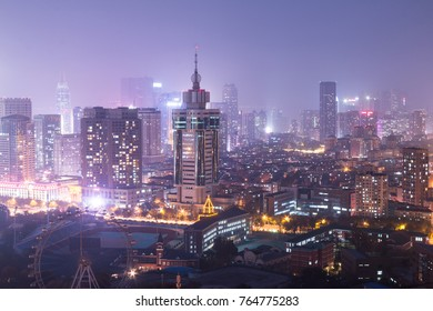 China Dalian city at night