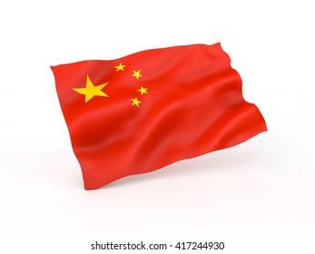 China flag. 3D illustration