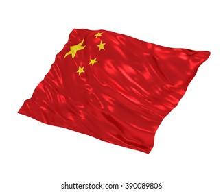 China flag on white background