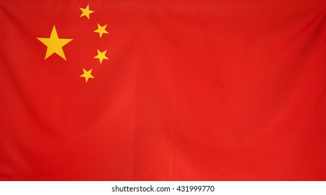 China Flag real fabric seamless close up