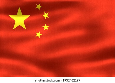 China flag - realistic waving fabric flag