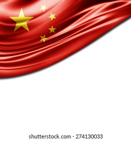 China flag and white background