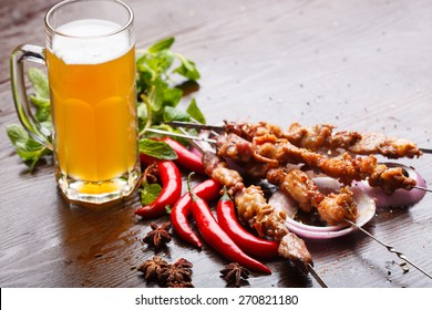 China food, roast mutton and beer