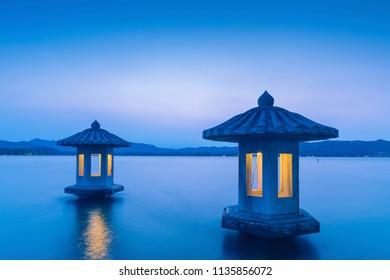 China Hangzhou West Lake (xihu)Green Pavilion(Cui Guang Pavilion)