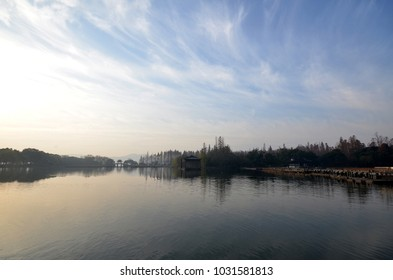 China Hangzhou West Lake natural landscape of the garden.