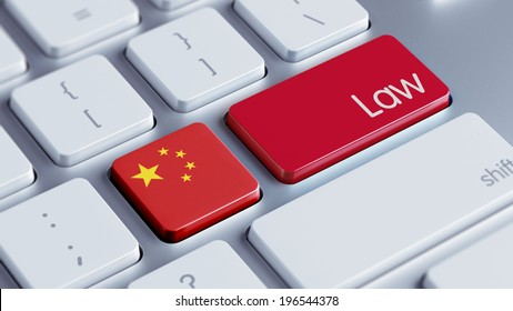 China High Resolution Law Concept