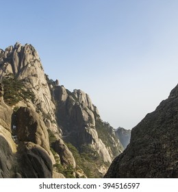 China Huangshan Mountain, one of China's most famous mountain, the symbol of China