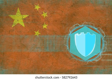 China internet protection. Internet safety concept.