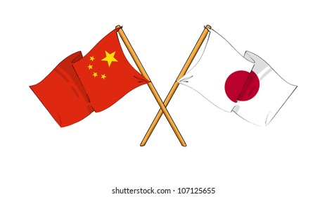 China and Japan alliance and friendship