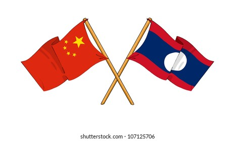 China and Laos alliance and friendship