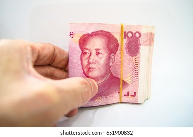 China money 100 bank note, Yuan notes from China's currency. Chinese banknotes.