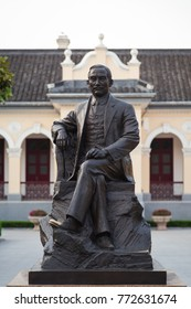 China Nanjing KMT Presidential Office - statue of Dr. Sun Yat-sen in front of the Provisional President's Office