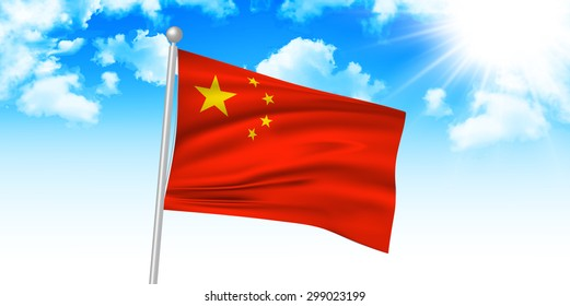 China national flag background
