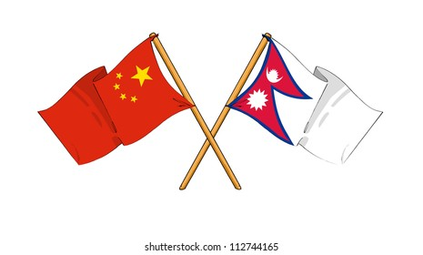 China and Nepal alliance and friendship
