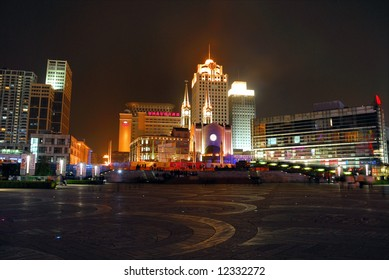 China Ningbo Tianyi square at night