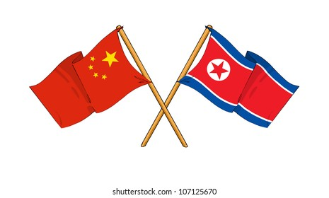 China and North Korea alliance and friendship