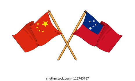 China and Samoa alliance and friendship