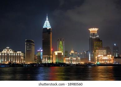 China Shanghai Bund night view