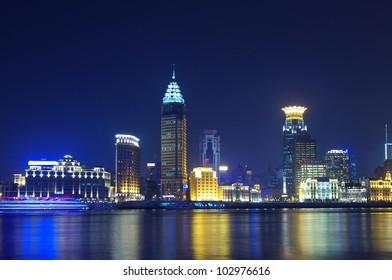 China Shanghai skyline night