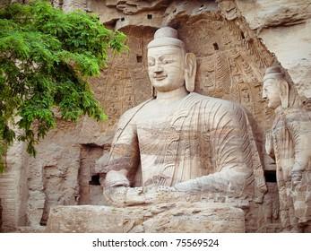 China, shanxi: Stone carving of Yungang grottoes