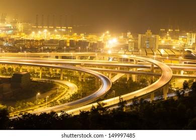 China Shenzhen, Yantian port overpass
