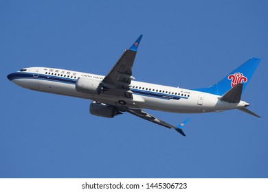 China Southern Airlines Boeing 737 MAX 8 departing Bangkok VTBS on 22 January 2019