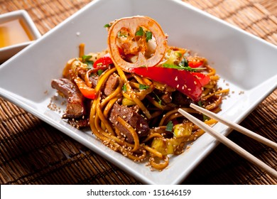 China starch noodles with veal.