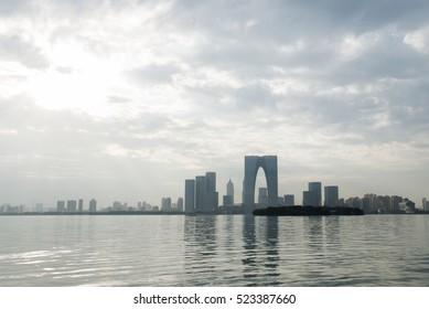China Suzhou skyline