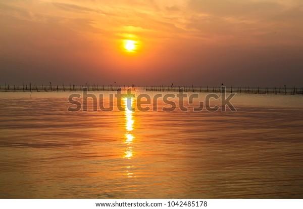 China Taihu Lake sunset