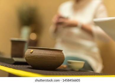 china tea ceremony. tea cup and teapot