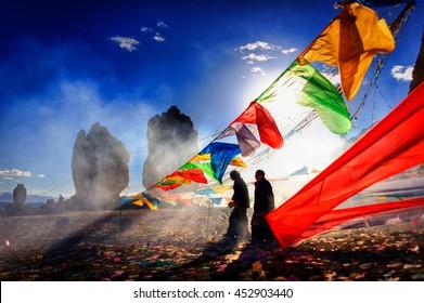 China, Tibet,16.09.2007 Feast  on Lake Namtso