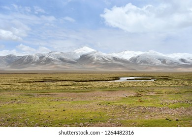 China, Tibetan plateau in the area between Gangke Yuke and Gongyok mountains in cloudy summer