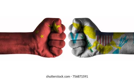 China  vs Virgin islands us
