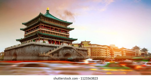 China Xi'an city landmark, the bell tower